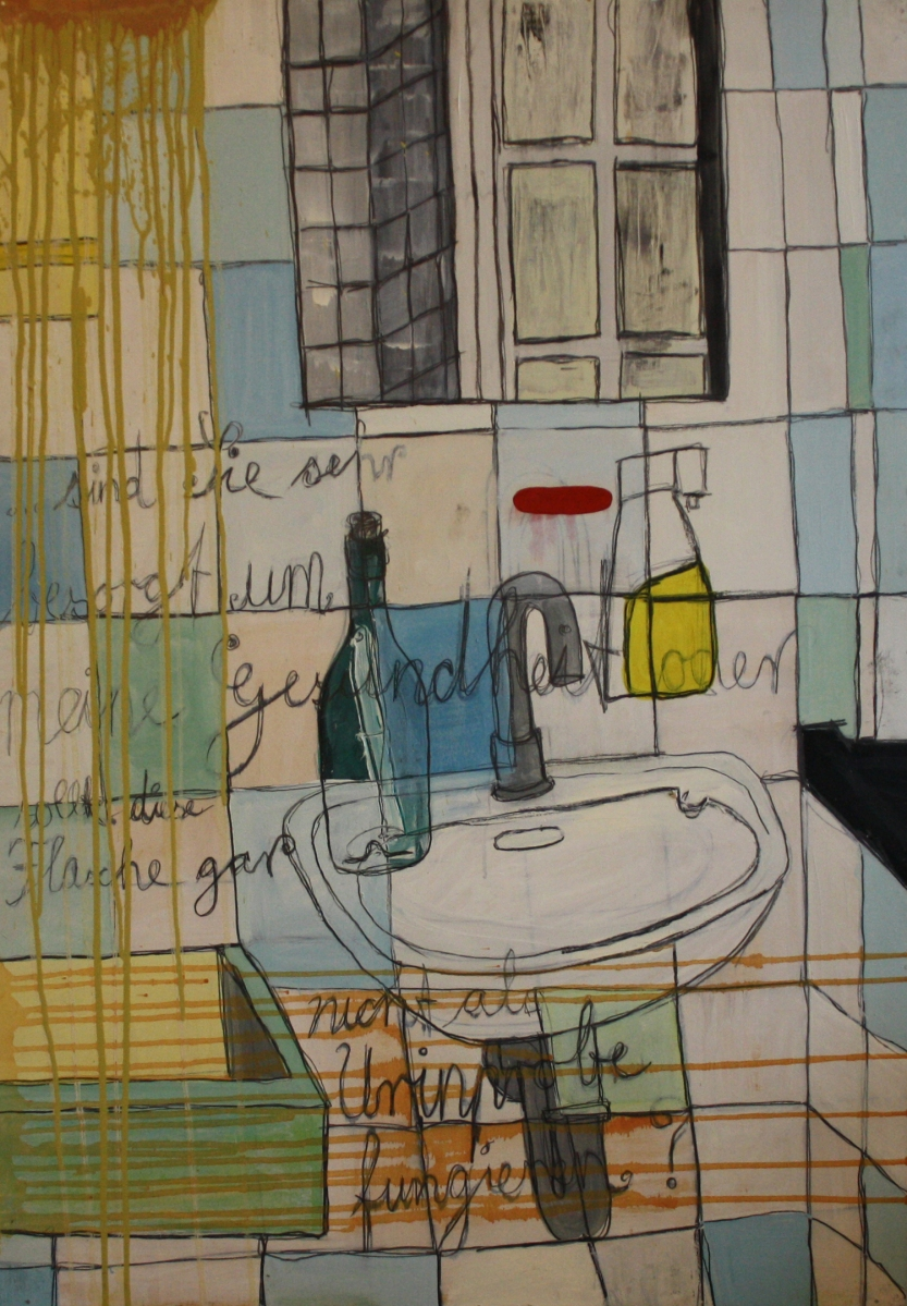 Flaschenpost Nr.: 11 / 29.06.00 / Herren WC Musikhalle (Künstlereingang / ...sind Sie sehr besorgt um meine Gesundheit oder sollte diese Flasche gar nicht als Urinprobe fungieren?