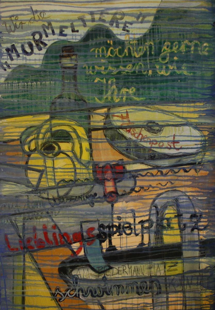 """Flaschenpost Nr.: 37 / 03.07.00 / Spielplatz am Biedermannplatz / Wir die """"Murmeltiere"""" möchten gerne wissen, wie Ihre Flaschenpost auf dem Wasserwege auf unseren Lieblingsspielplatz am Biedermannplatz schwimmen konnte?"""