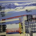 Ohne Titel, Lack, s/w Kopien, Heißkleber auf Holz, 100 cm x 100 cm, Preis auf Anfrage