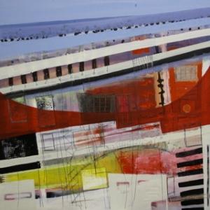 Ohne Titel, Öl/Bleistift auf Holz, 100 cm x 100 cm, Preis auf Anfrage