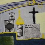Ohne Titel, Lack, s/w Kopien auf Hartfaser, 30 cm x 30 cm, Preis auf Anfrage
