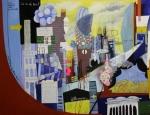 Ohne Titel, Öl/Bleistift/gefundene Zettel auf Leinwand, 150 cm x 200 cm, 2006/2007, Preis auf Anfrage