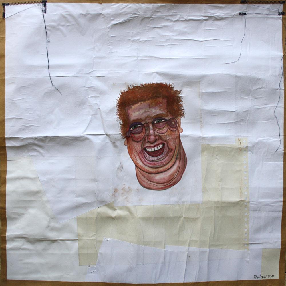 Ohne Titel, Mischtechnik auf verleimtem Papier, 70 cm x 70 cm, Preis auf Anfrage