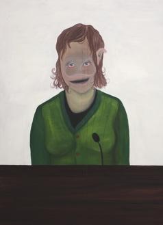 """""""Die Sprecherin"""", Öl auf Leinwand, 95 cm x 70 cm, Preis auf Anfrage"""