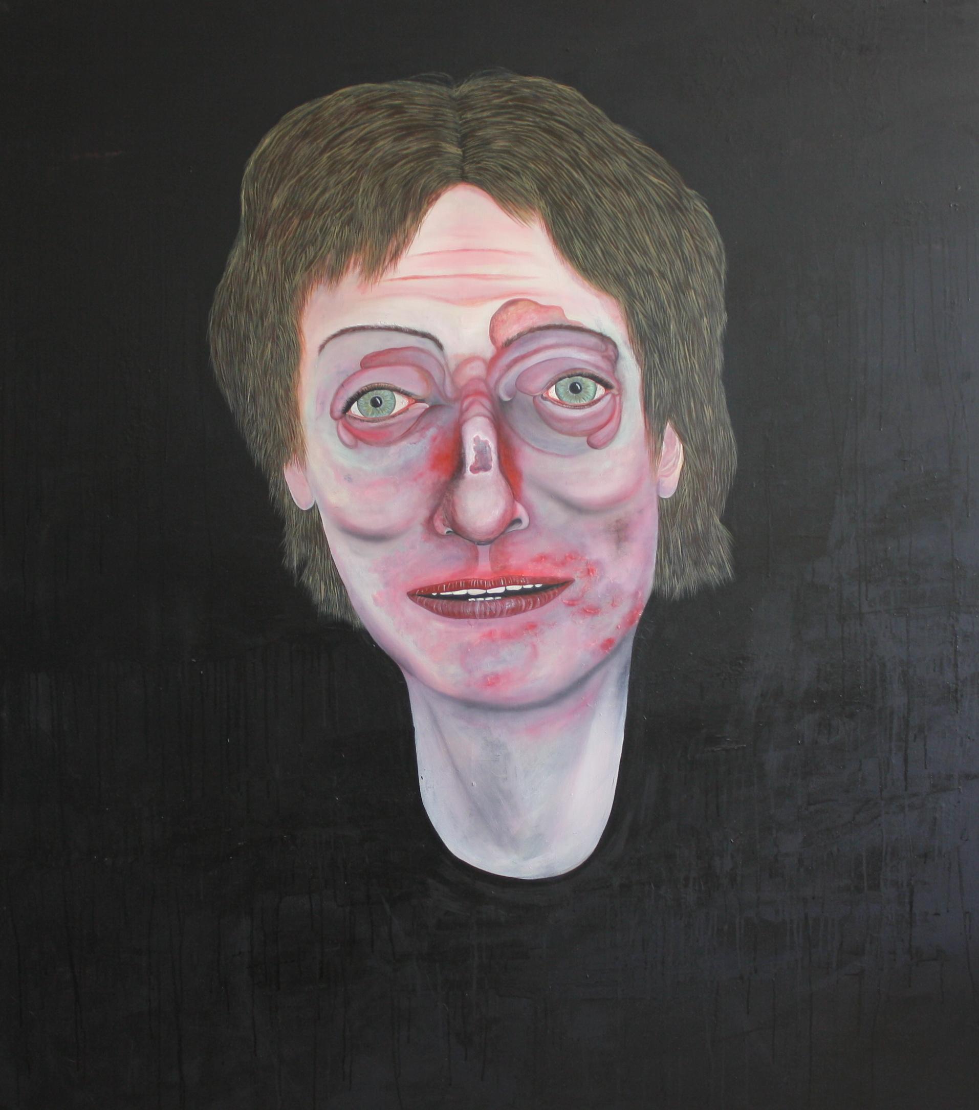 Ohne Titel, Öl auf Leinwand, 170 cm x 150 cm, Preis: 4500.- Euro