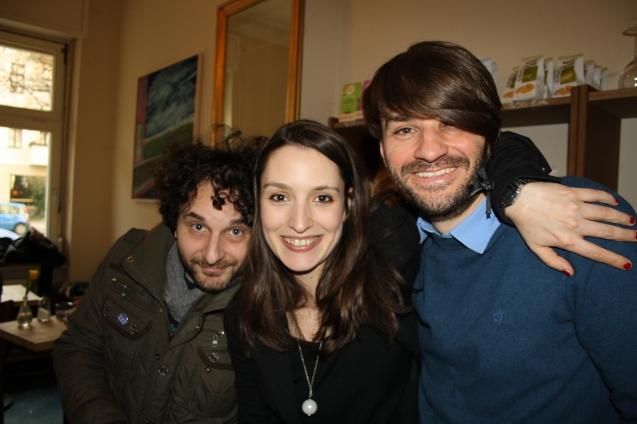 Gilli und Enzo - zwei wunderbare Vernissagebesucher. Ich freue mich über euren Besuch!
