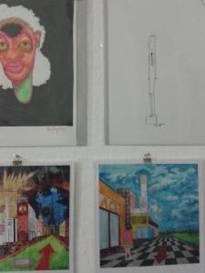 """Zeichnungen von Steve Meyer in der """"Gallery Nomad"""""""
