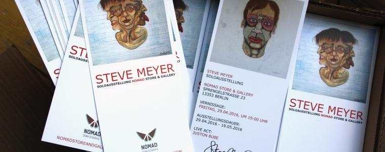 Flyer zu der Ausstellung in der Galerie NOMAD