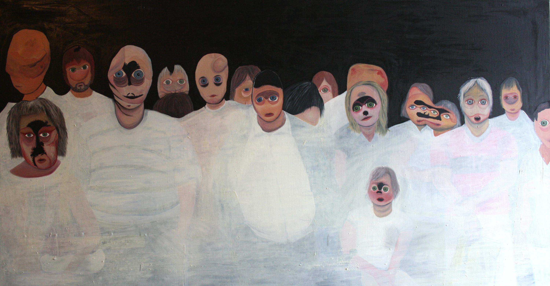 Ohne Titel, Öl auf Leinwand, 100 cm x 190 cm, 2010, Preis: 3300.- Euro