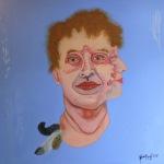 """""""Daniel Federfreund"""", Öl auf Holz, 130 cm x 130 cm, 2017, Preis auf Anfrage"""