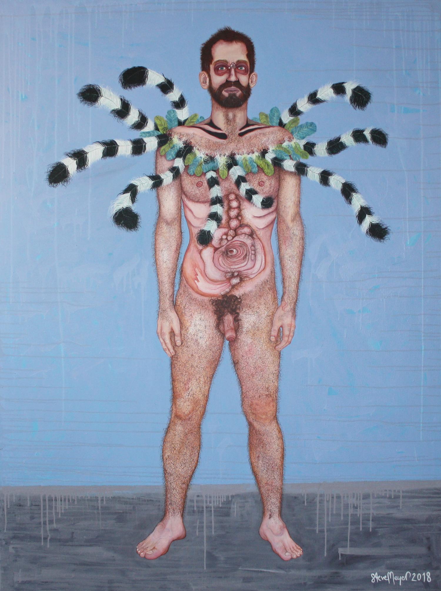"""""""Herr Gregor Federkranz"""", Öl auf Leinwand, 180 cm x 135 cm, 2018, Preis auf Anfrage"""