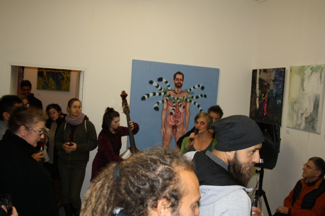 Vernissage im Atelier cocon coloré am 12.01.2019