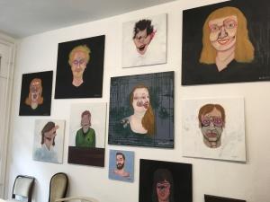 Einzelausstellung Steve Meyer 09 - 19 im Atelier cocon coloré April 2019