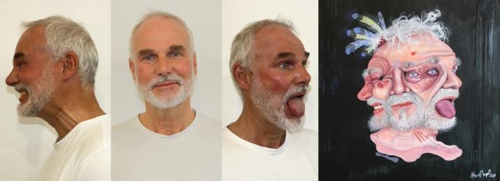 Vom Fotomodell zum Gemälde
