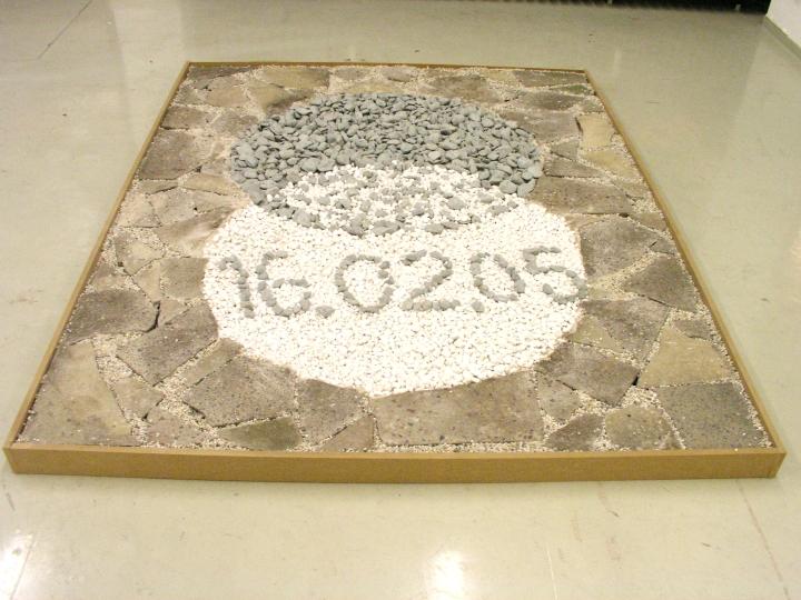 Diplomausstellung 16.02.2005, Kieskreise in Originalgröße