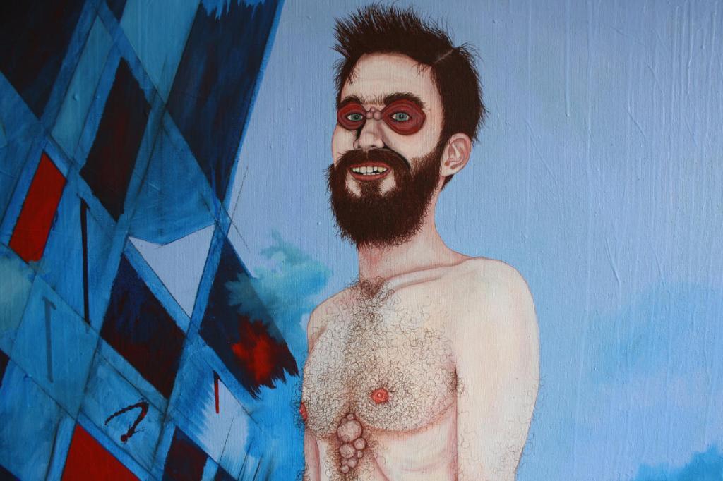 """""""Herr Christopher van Flügelbundt Junior"""" (Ausschnitt 1), Öl auf Leinwand, 180 cm x 135 cm, 2020, (Preis auf Anfrage)"""