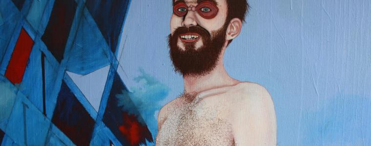 """Herr Christopher van Flügelbundt Junior"" (Ausschnitt 1), Öl auf Leinwand, 180 cm x 135 cm, 2020, Preis: 8900.- Euro"