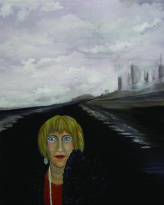Ohne Titel, Öl auf Leinwand, 100 cm x 80 cm, zerstört