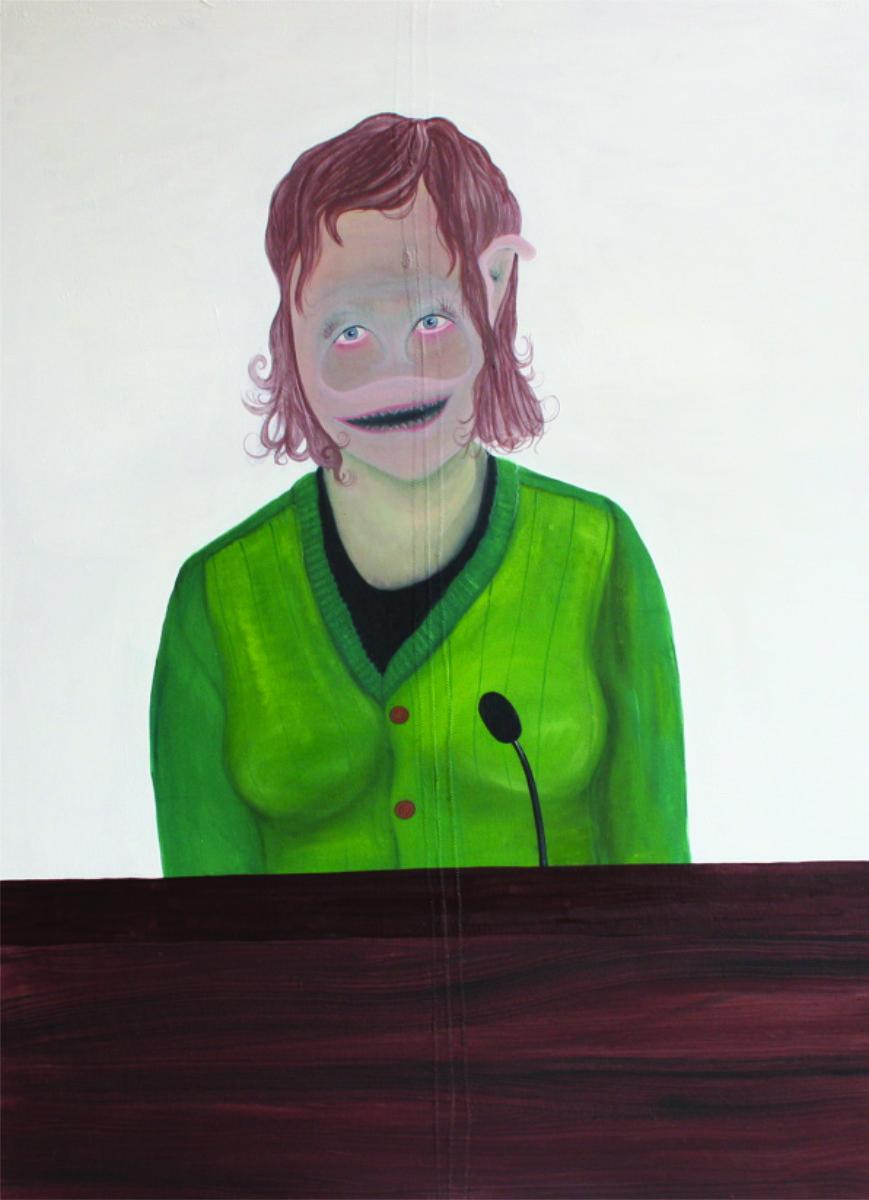 """""""Die Sprecherin"""", Öl auf Leinwand, 95 cm x 70 cm, Preis: 3900.- Euro"""